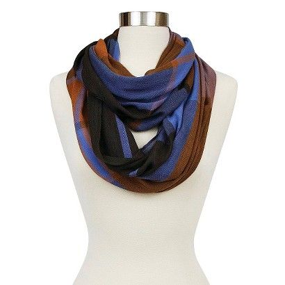 Target-not available---- Women's Sylvia Alexander Plaid Woven Infinity Scarf - Rust