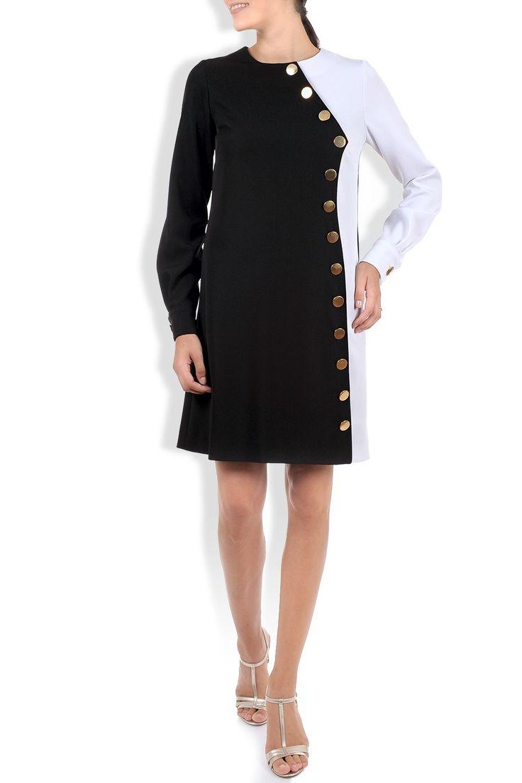 Rochie midi alb-negru