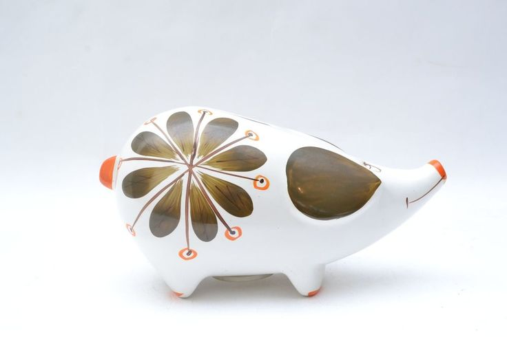 Mid Century Vintage Ceramic Pig Piggy Bank | eBay