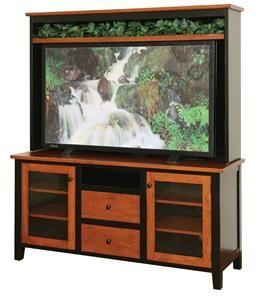 Amish Manhattan Plasma TV Stand with Optional Hutch Top
