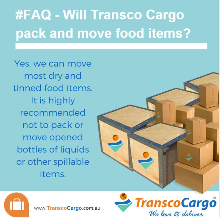 #FAQ Will #TranscoCargo pack and move food items?