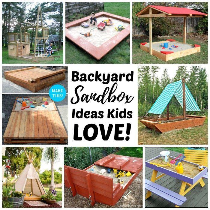 Best Sandbox Ideas For Kids Backyard Sandbox Diy Backyard Kids