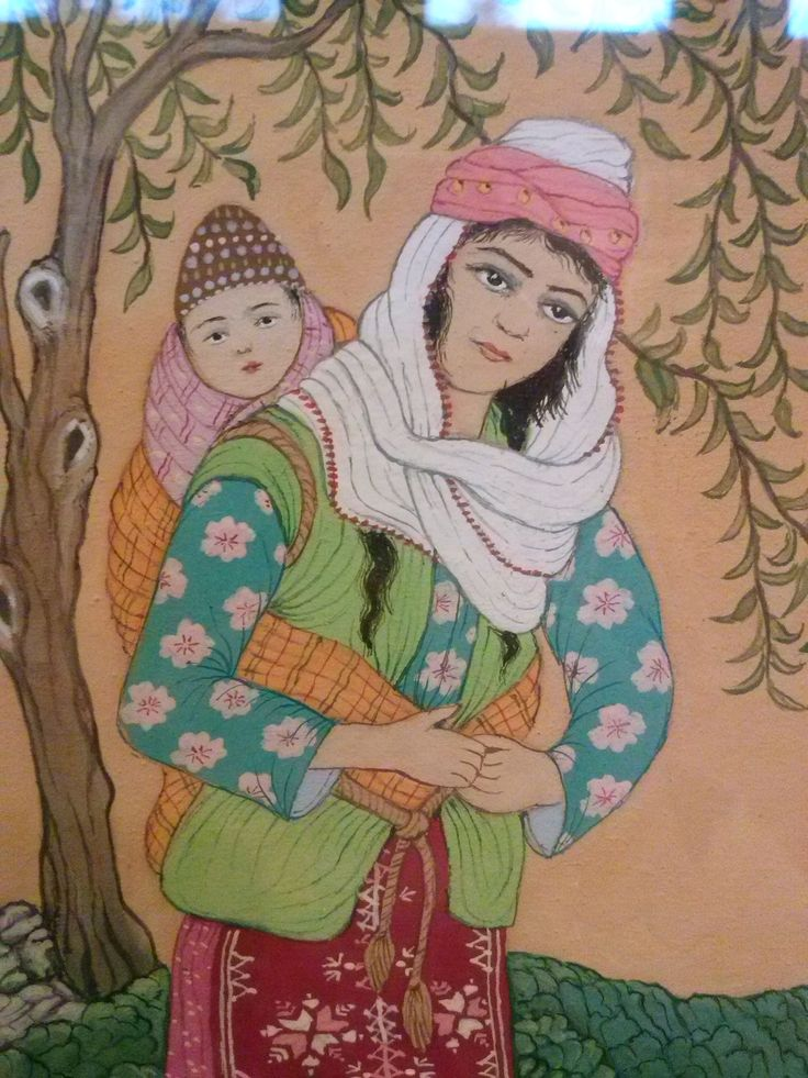 Ömer Faruk Atabek - Çocuklu Kadın - detay
