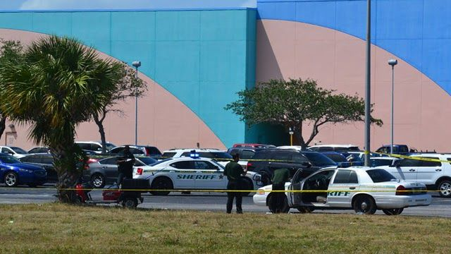 Private Officer Breaking News: Deputy shoots armed man at Merritt Square Mall (Merritt Island, Fla April 20 2017) A construction worker who was on site at the mall was confronted by his boss for erratic driving. Others had observed this same erratic behavior, including mall security.  He became aggressive towards the deputy, swinging the piece of metal, piece of post, at the deputy. The female deputy fired multiple rounds at the man and wounded him.