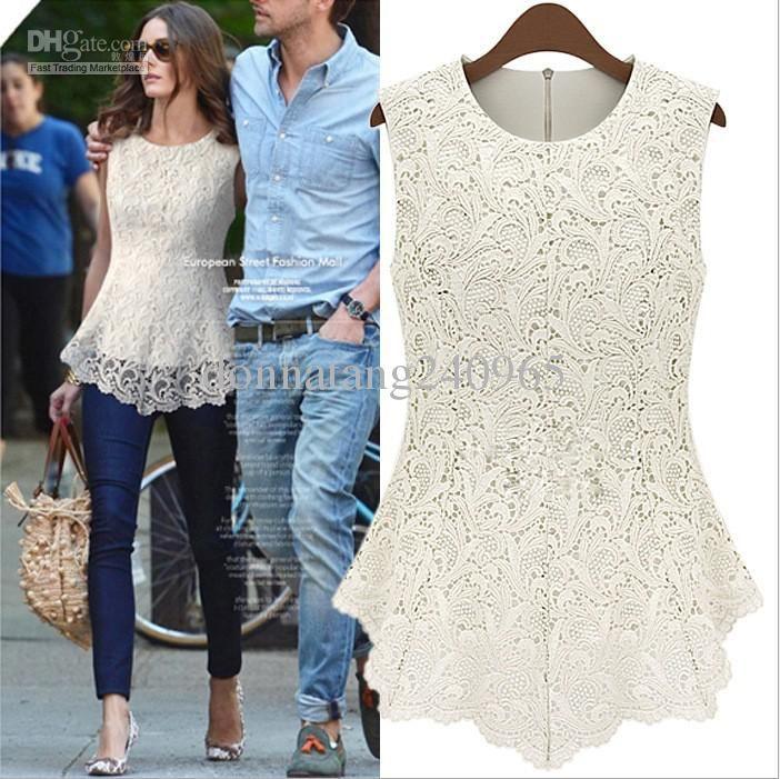 Cheap Lace Blouse - Best 2013 New Design Ladies Lace Top Blouse Online with $26.59/Piece | DHgate