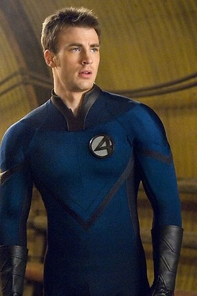 Fantastic phwoar ... Chris Evans looking very nice in Fantastic Four: Rise of the Silver Surfer.