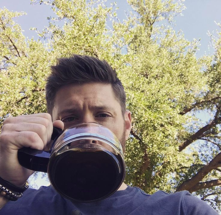 """47k Likes, 1,498 Comments - Jensen Ackles (@jensenackles) on Instagram: """"Morning Phoenix. Nothin like a pot of hot coffee and 100degree heat to start you off! """""""