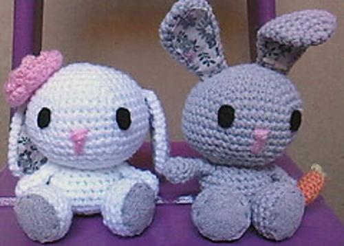 crochet, bunnies, haken, konijntjes