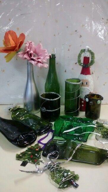 Reciclando botellas de vidrio