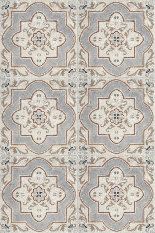 The Catalina Pattern Is Subtle Yet Elegant And Will Look Amazing In Any Spanish Style Home This Patterned Tile Uses Soft Colors Combined With A Travertine