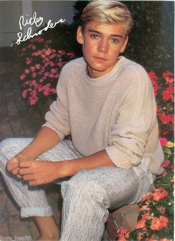 Ricky Schroder--Actor My childhood crush. Loved watching Sliver Spoons. He was a cuttie and still is.