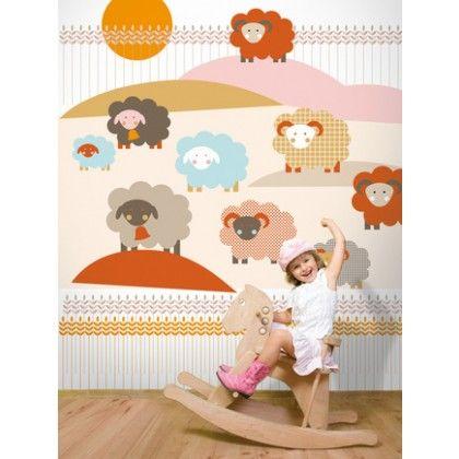 Sheep Mural Wallpaper