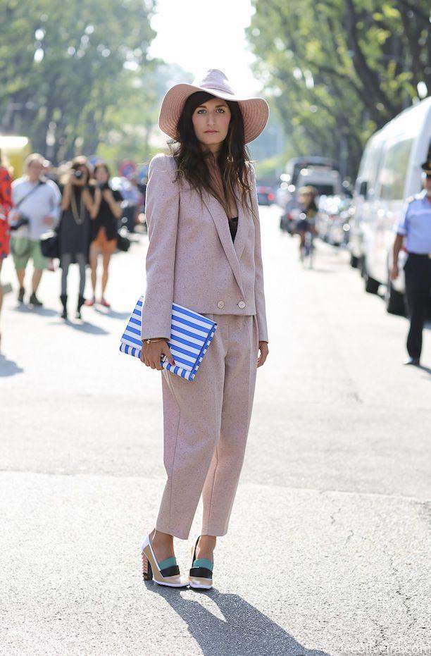(via Pantsuits With A Punch: via  WhoWhatWear.com) #fashion