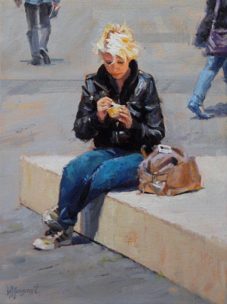 Ice cream break | oil on linen painting by Richard van Mensvoort