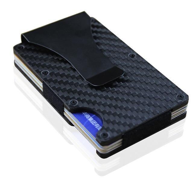 Carbon Fiber RFID Wallet With Clip