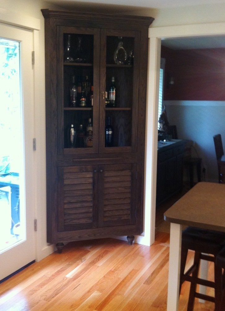 This Photo About Ideas For Build Corner Liquor Cabinet Entitled As
