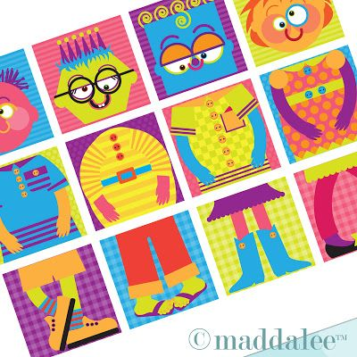 Art, DIY Free Printables, Kid Crafts, Party Decor, Notecards, Recipe Cards, DIY Journals, Felt Toys: Maddalee's Funny Friends DIY Kids Puzzle Game, Free Printables!