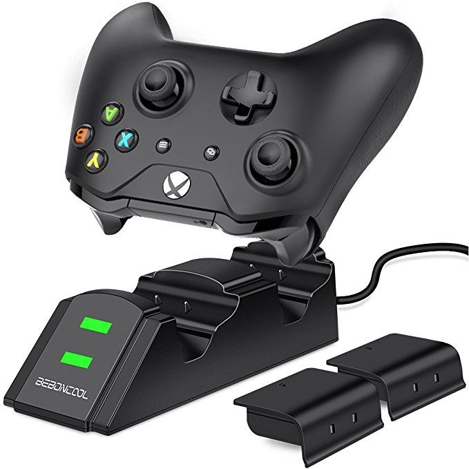 Xbox One Controller Charger 2 X 800mah Rechargeable Battery Packs For Xbox One One S One X Xbox Elit Xbox One Controller Rechargeable Batteries Charger Station