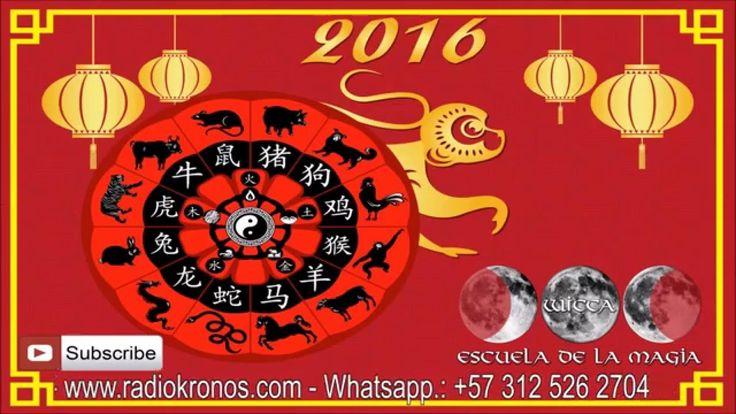 HORÓSCOPO CHINO PARA EL AÑO 2016 / Año del Mono de Fuego