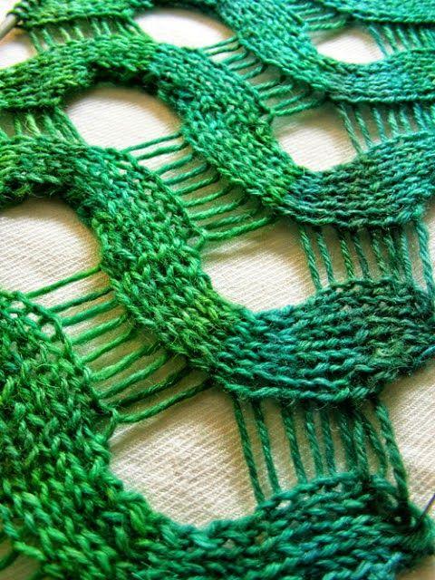 Crochet y dos agujas: Punto ondas calado con dos agujas - paso a paso