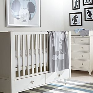 Ethan Allen Crib Collection for Baby | Disney Store Baby will enjoy sweet dreams as they're joined by Mickey and Minnie who star on this Ethan Allen Crib Collection for Baby. Combining the Magic of Disney with the elegance of Ethan Allen, it includes the Carolwood Crib and selection of crib sheets.