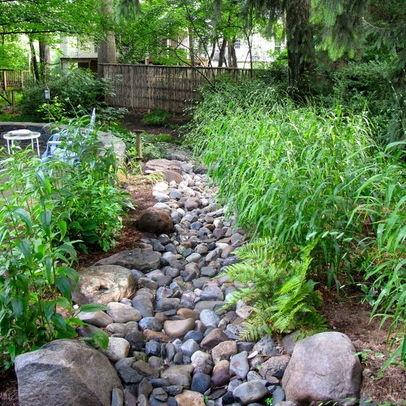 idea for sump pump runoff Garden Pinterest