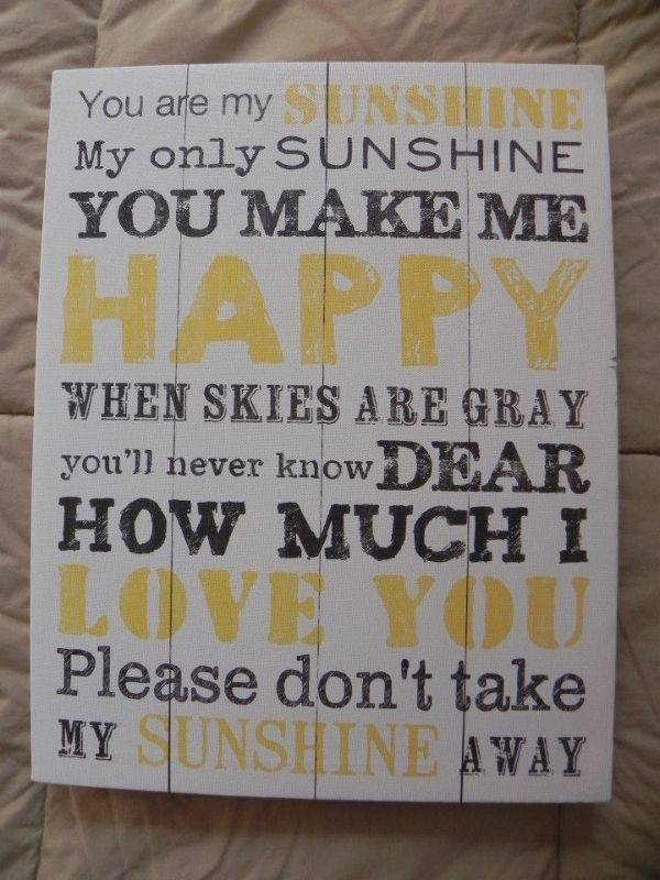 Canvas Print - YOU ARE MY SUNSHINE