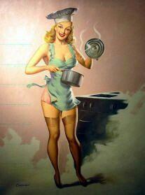 Love a tiny apron.