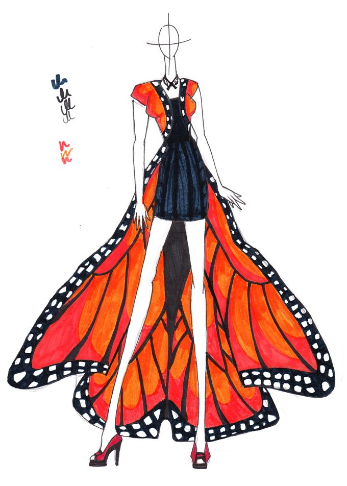 Super cool butterfly frock!