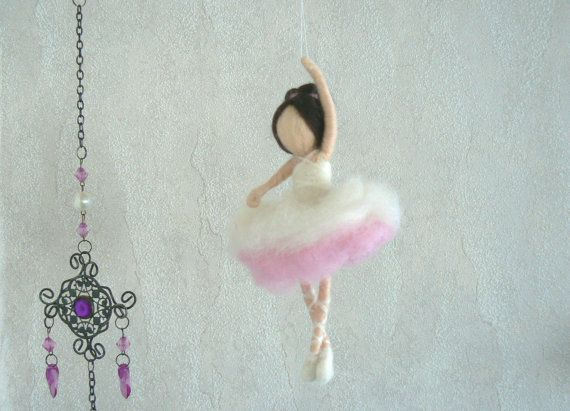 Ballerina Ballet Doll Needle Felted Waldorf by CloudBerryCrafts
