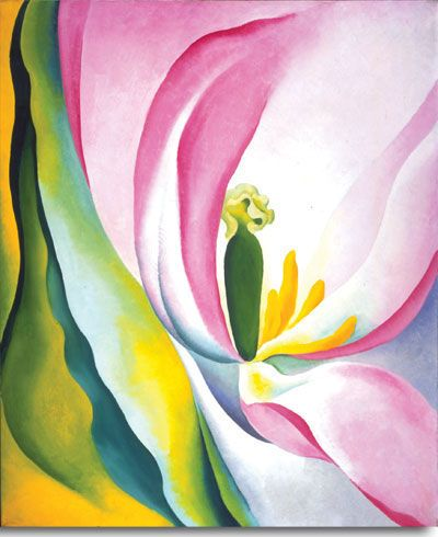 Pink Tulip by Georgia O'Keeffe, 1926. Oil on canvas