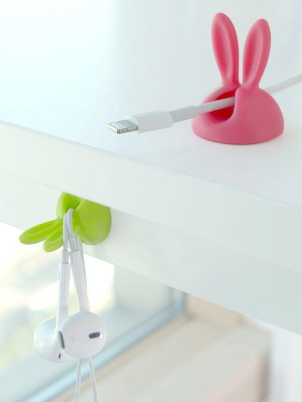 MochiThings com  Medium Rabbit Cable Holder Set