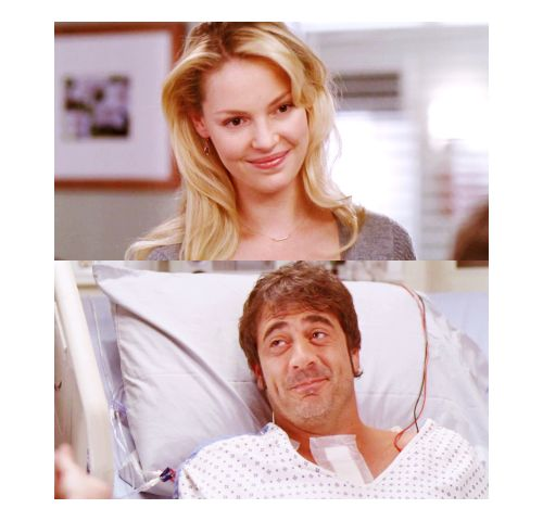 Izzie and Denny - I loved the Dennie and Izzie story line - why did they kill him off like that ;( - The whole Alex and Izzie thing was kinda lame.