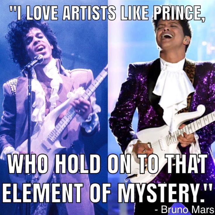 """I love artists like Prince, who hold on to that element of mystery."" - Bruno Mars . . . #brunomars #prince #brunomarsgrammys #2017grammys #celebrityquotes #quotes #brunomarsfan #ilovebruno #purplerain #petergenehernandez #purple #hooligans  #theartistformallyknowasprince #24kmagicworldtour #hisroyalbadness #brunomarsfans #princeoffunk #entertainment #highpriestoffunk #entertainers #thepurpleone #awardshows #tributeshow #24kmagictour  #guitarists #performers #brunomars24kmagic #losangeles"