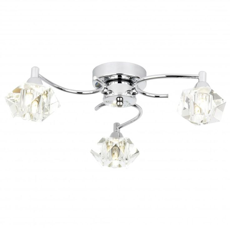£85 Endon ARIETTA-3FCH Arietta 3 Light Ceiling Light Chrome