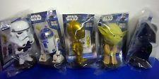 5 Funko STAR WARS Mini Bobblehead Wacky Wobbler R2D2 Yoda C3P0 Vader Bobble Head