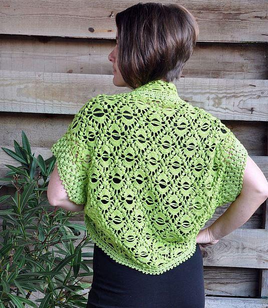 Crochet shrug PATTERN crochet wrap pattern by FavoritePATTERNs
