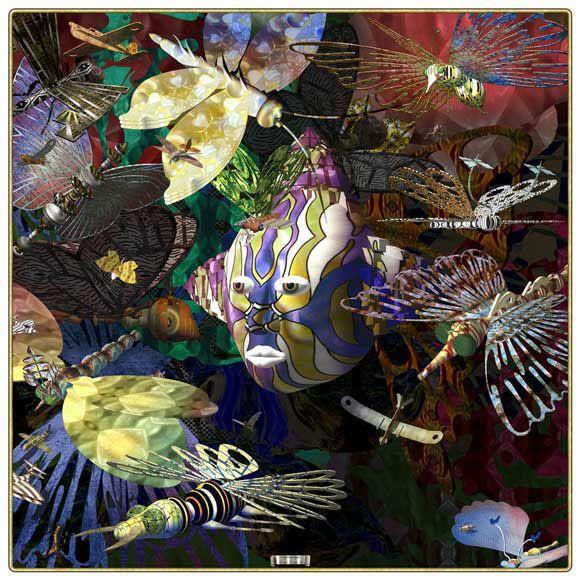 Richard Killeen Butterfly evening, 2008, unique archival inkjet on canvas, 1350 x 1350 mm