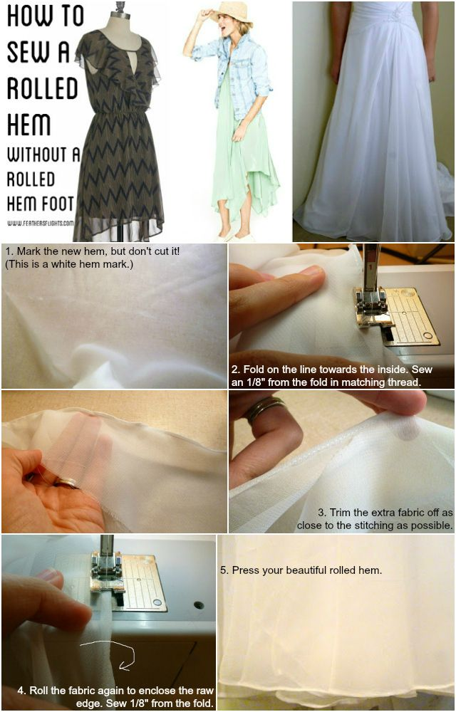 Feather's Flights {a creative, sewing blog}: Sewing 101 - How to Sew a Rolled Hem