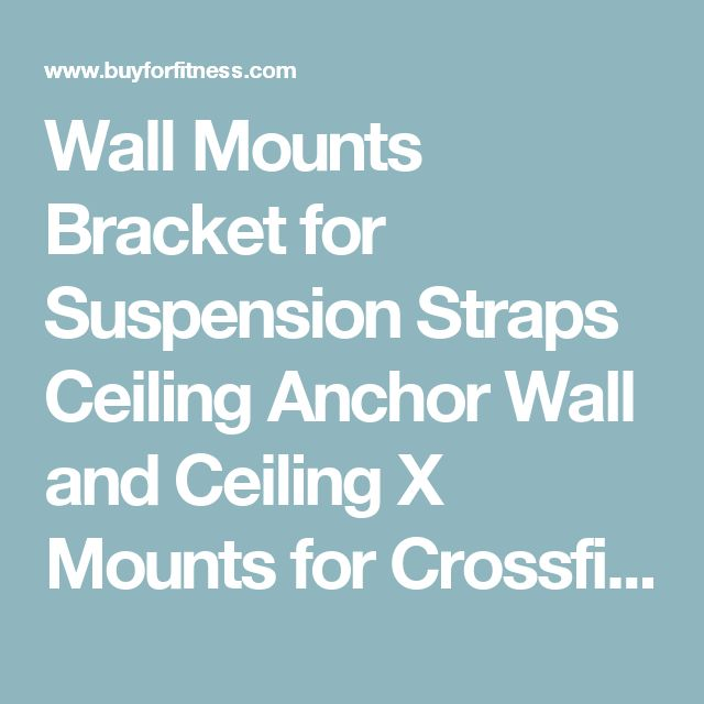 Wall Mounts Bracket for Suspension Straps Ceiling Anchor Wall and Ceiling X Mounts for Crossfit Olympic Gymnastic Rings Body Fitness Training Yoga ...