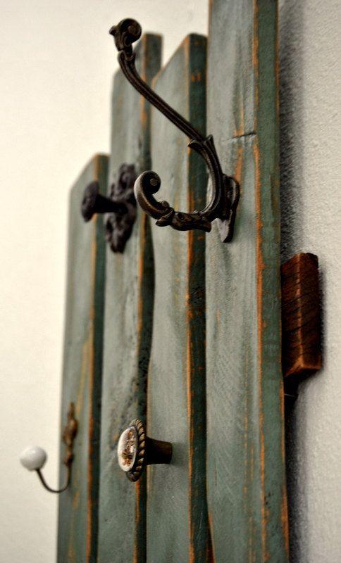 Abrigo de Rack - plataforma - Upcycled - antiguo - rústico - pared decoración - listo a nave!