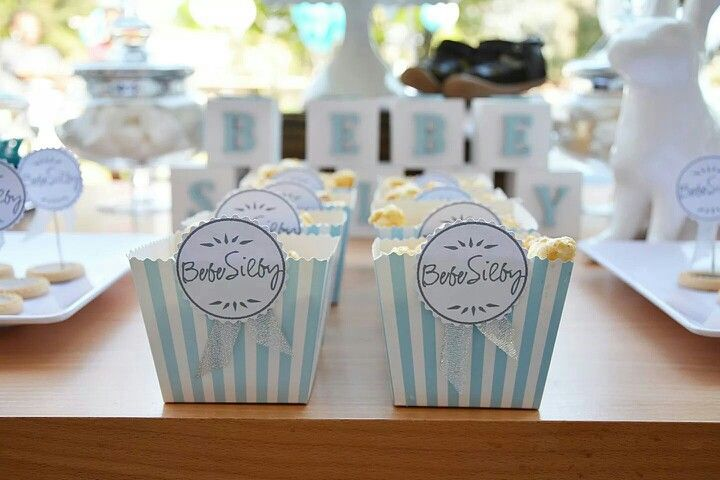 Handmade popcorn boxes for our bris