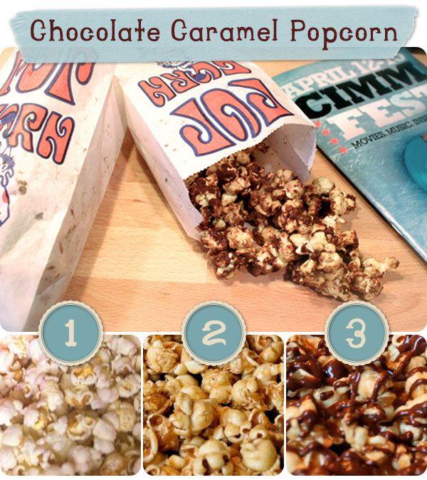 how to make chocolate poopcorn