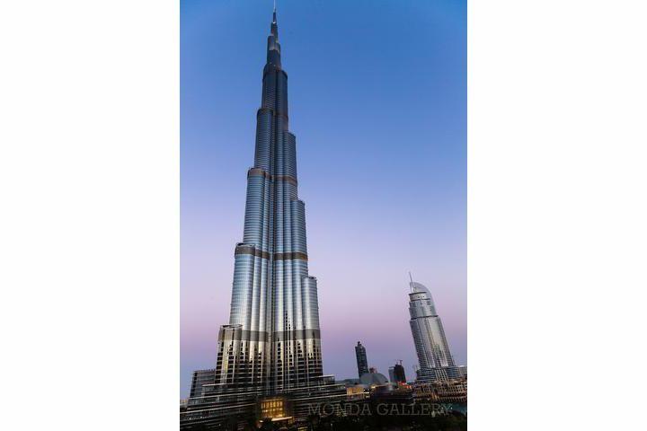 Picture by DAVID ZHANG: Magnificient Burj Khalifa overlooking The Address Downtown Dubai.  Location: Downtown Dubai Creation: 2014