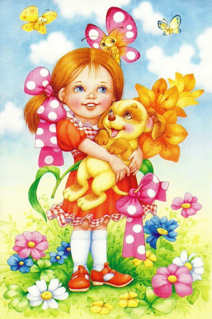 Детские открытки дети, сентября распечатать