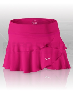 Click here for enlarged image of Nike Tennis Clothing - Women's Challenge Knit Skirt - Voltage Cherry/White | Pro-Direct Tennis