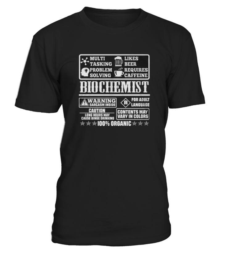 Top Shirt BIOCHEMIST 100% ORGANIC T SHIRTS front  Funny Organic T-shirt, Best Organic T-shirt