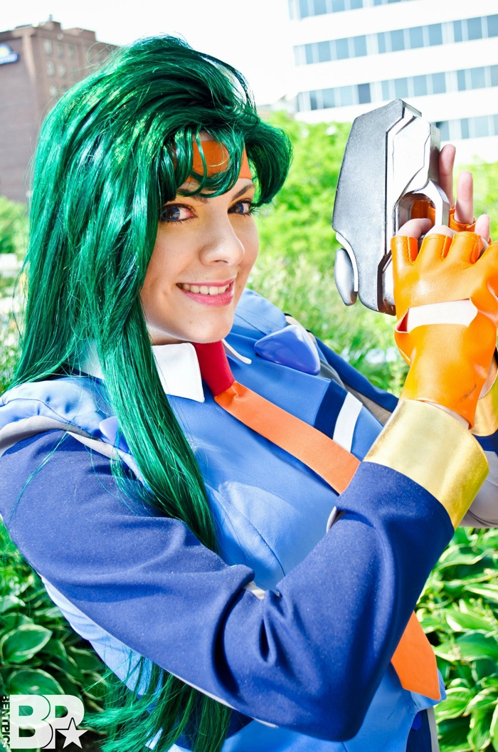 Kiyone Makibi from Tenchi Universe.     Tenchi Muyo was one of my favorite anime series growing up as a kid and I was ecstatic to make a cosplay from it. It was a lot of technical sewing but it was worth the patience to represent this great show!