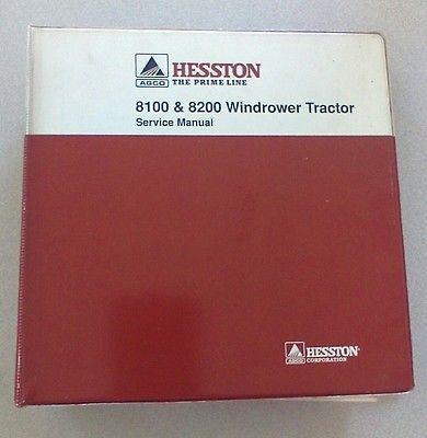 hesston-8100-8200-windrower-tractor-service-repair-manual-original-binder    old toy trucks   repair manuals, tractors, ebay