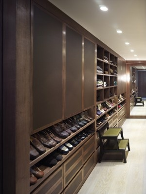 H I S Walnut & Leather Closet